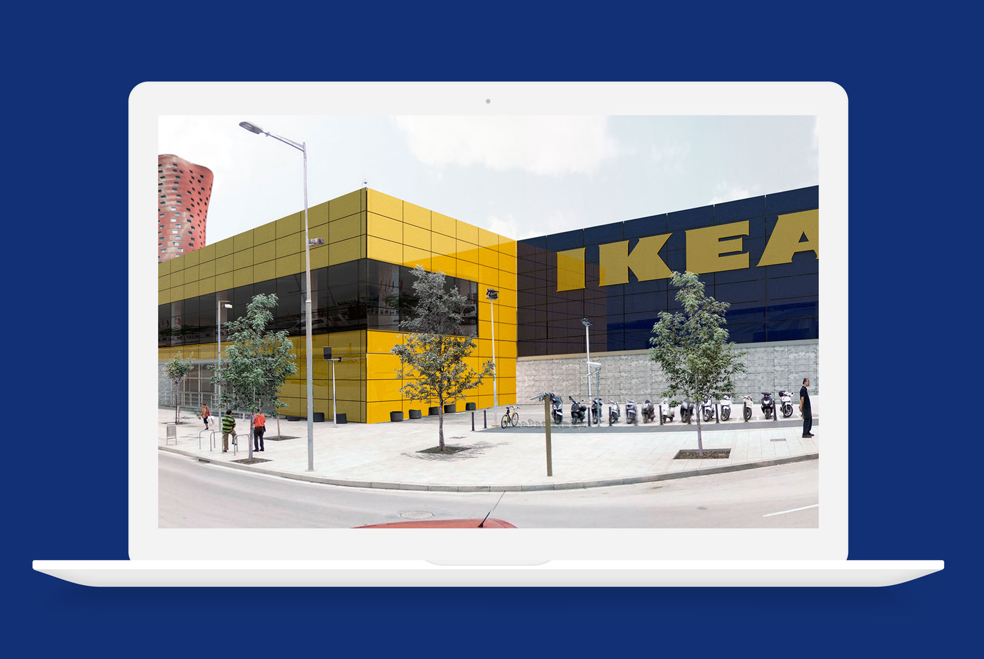 conjunto de infografas para las nuevas sedes de las tiendas de ikea en espaa